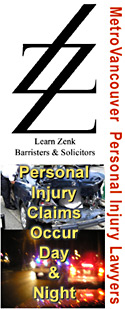 learn Zenk logo with photos of  car crashes day and nite