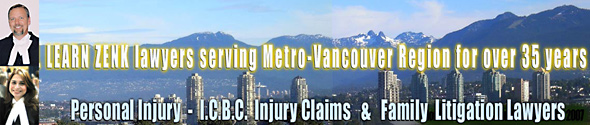 photo Learn Zenk personal injury lawyers showing north Burnaby condos with North Vancouver Mountains in the background