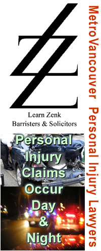Learn Zenk, Associated Law Corp. personal injury lawyers  logo and photos of major motor vehicle accidents in the lowermainland of BC  CLICK FOR MORE INFO