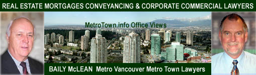 Photos of Baily McLean - Real Estate Conveyancing / Corporate-Commercial Lawyers  Metrotown Metrotower view of Burnaby to Downtown Vancouver