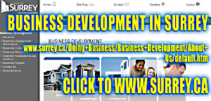 City of Surrey, business development  support services