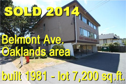 former restaurant building with parking area sold in 2014 for xxx  at 2888 Belmont Ave. - near Hillside and Shelbourne