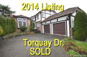 located in Saanich Lambrick Park area, this property photo shows Torquay Drive property located at top of driveway - listing  in  2014 sold