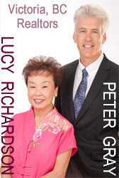 Victoria realtors Lucy Richardson and Peter Gray